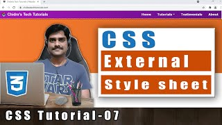 css video tutorial 7 css external style sheet link tag