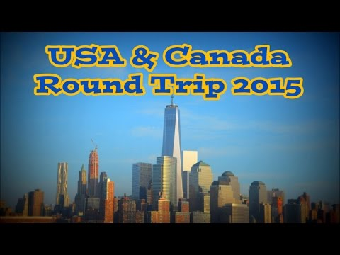 USA Canada 2015 Round Trip Go Pro Hero 3  HD New York Toronto Niagara
