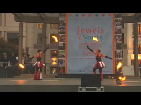Fire Poi Video: Brenda/Marla at Jewels in the Square (8/8)