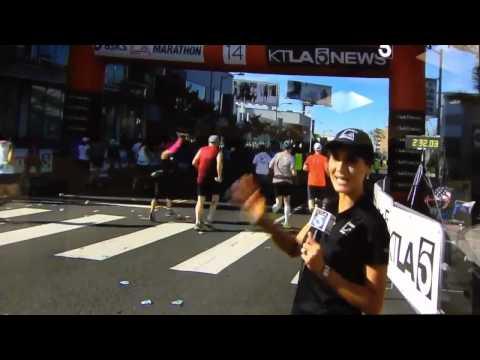 LA Marathon KTLA Mile14 - Liberté Chan