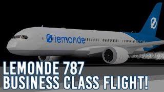 ROBLOX | LeMonde Business Class 787 Flight!