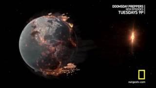 世界の終わり。地球と中性子星の衝突