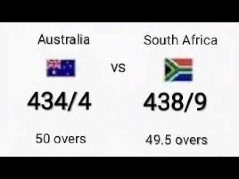 Cricket History | South Africa Chase Top Most Score 434 Against Australia In ODI