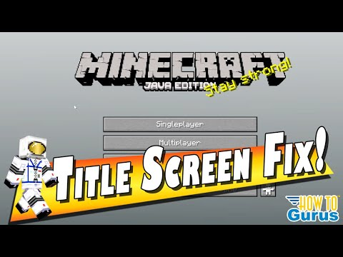 How To Fix Minecraft Title Screen Glitch - Gray With No Background Animation  Minecraft Java Edition
