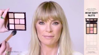 How To Get A Quick Natural, Glowing Makeup Look with Instant Look in a Palette  | Charlotte Tilbury