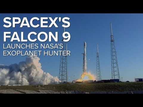 NASA's TESS exoplanet hunter launches on a SpaceX Falcon 9 rocket