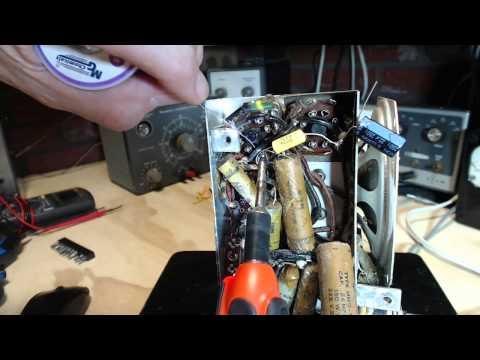 Deforest 10DA517 AM Radio Video #3 - First Two Capacitors