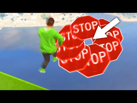 99.9% IMPOSSIBLE TO JUMP THROUGH THE GAP! (GTA 5 Funny Moments)
