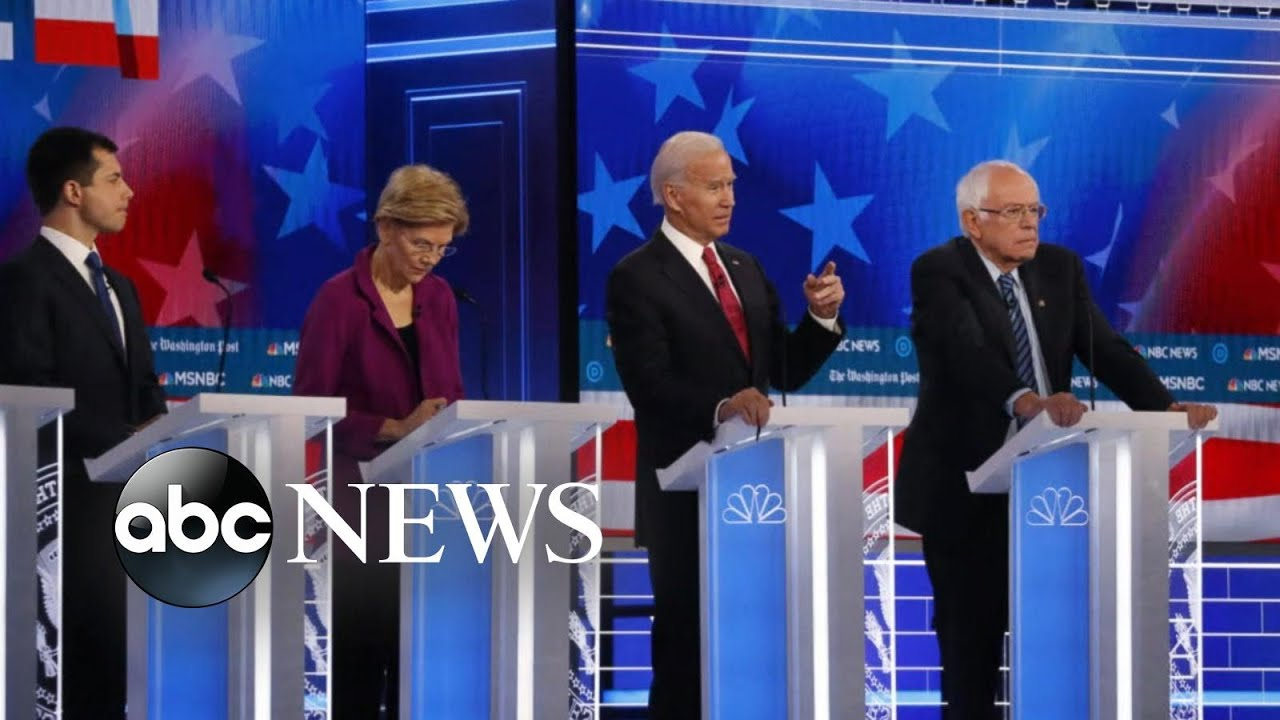 Democratic candidates spar over race, economy and foreign policy in latest debate l ABC News