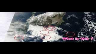 衝撃のNASA衛星写真!日本上空に61機の「葉巻型UFO」(2013.2.1~2) thumbnail