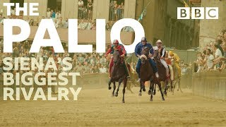 17 jockeys, 3 laps and 70 seconds to win one of Italy's most intense rivalries - BBC