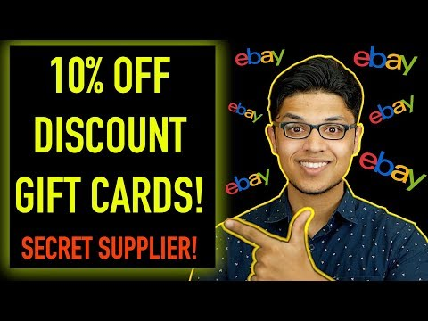 How to Get 10% Discount Gift Cards For your eBay Dropshipping Business  - INCREASE eBay Profits! thumbnail