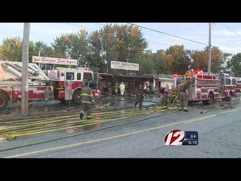 3 RI firefighters hurt battling strip mall fire