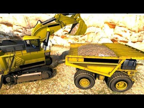 เกมส์รถแม็คโคร ขนาดใหญ่ ตักดิน ใส่รถบรรทุก DIG IT A.Digger Simulator
