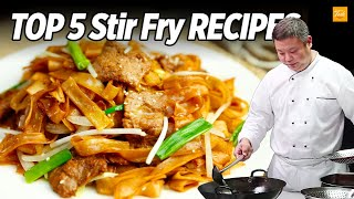 Top 5 Stir Fry Recipes by Chinese Masterchef | Cooking Chinese Food • Taste Show
