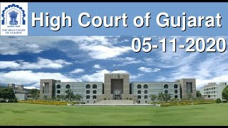 LIVE STREAMING OF CHIEF JUSTICE'S COURT [DIVISION BENCH 1] OF GUJARAT HIGH COURT - 5th NOVEMBER 2020