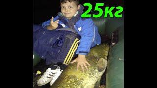 Ловля сома в Июле на закидушки Catfish