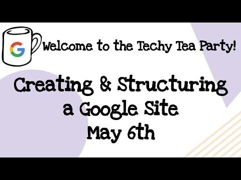 06.05 Creating & structuring a Google Site