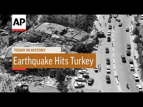 Earthquake Hits Turkey - 1999  | Today in History | 17 Aug 16