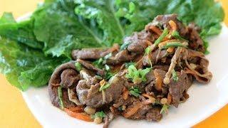 Korean Bulgogi (marinated Beef) - Korean Recipe - Cookingwithalia - Episode 319
