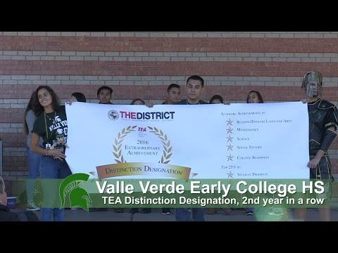 Valle Verde Early College High School earns all seven TEA distinctions