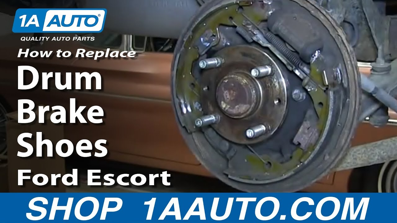 how to replace install rear drum brake shoes 1998 03 ford escort and zx2 [ 1280 x 720 Pixel ]