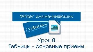 LibreOffice Writer. Урок 8: Таблицы - основные приемы построения