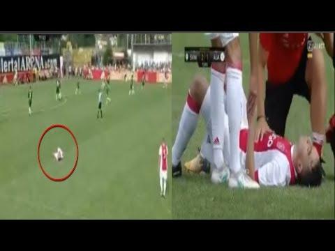 Jugador del Ajax cayó desplomado y quedó en coma. Abdelhak Nouri.