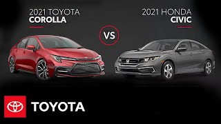 homepage tile video photo for 2021 Toyota Corolla vs. 2021 Honda Civic | All You Need to Know | Toyota