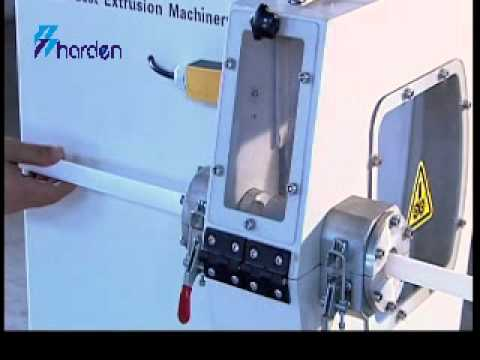 Fly Knife Cutter For Plastic Tubing Extrusion Line Youtube