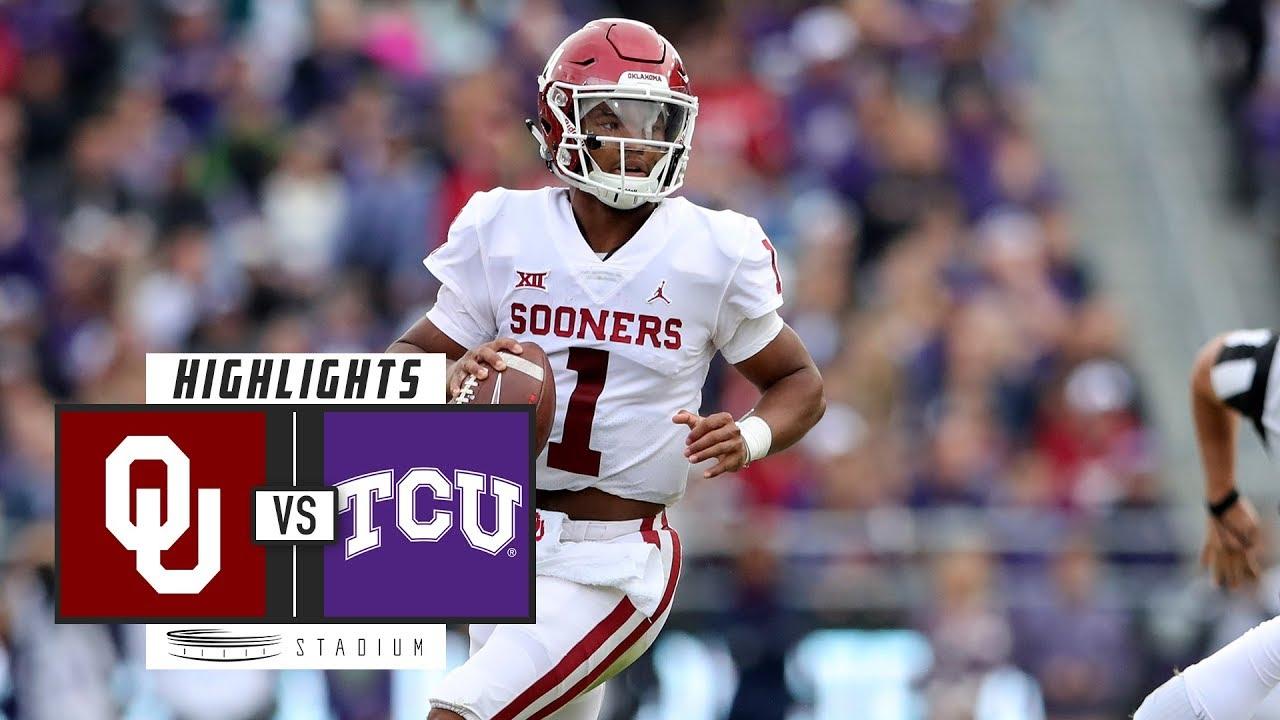ac4a2c82d No. 9 Oklahoma vs. TCU Football Highlights (2018)
