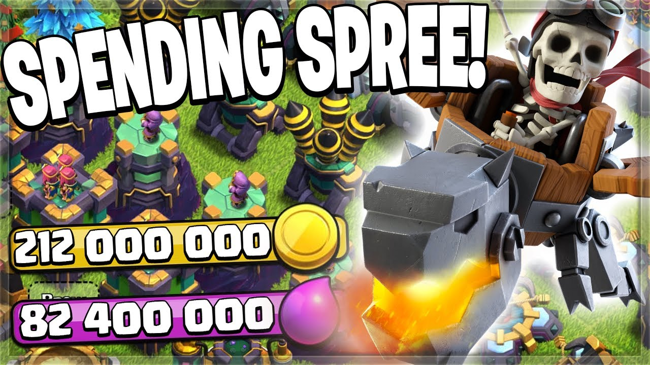 SPENDING OVER 300 MILLION IN LOOT! (Clash of Clans