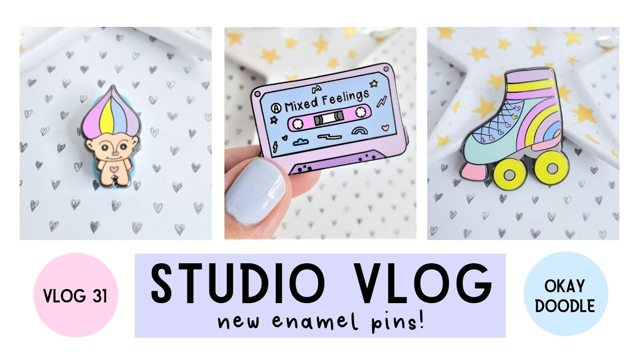 STUDIO VLOG | New Enamel Pins arrive & a mental health week | 031