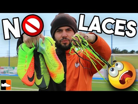 Can You Play With No Laces?! Nike Superfly, Magista, Vapor Boots