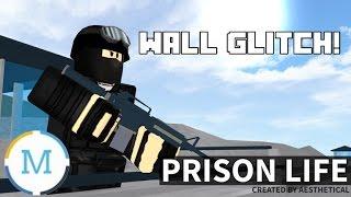 ROBLOX Prison Life Wall Glitch! - Masterblockhead