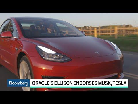 Oracle's Ellison Discloses Tesla Stake, Defends Musk