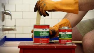 How to Refinish Your Tub with the Magic Paint On Tub & Tile Kit