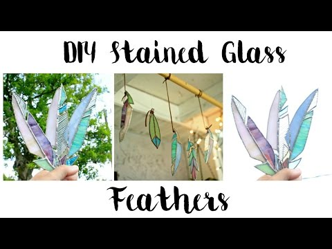 DIY REAL STAINED GLASS FEATHER!