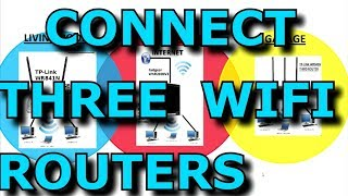 Connecting Three WIFI Routers With WDS And Sharing The Internet And Network