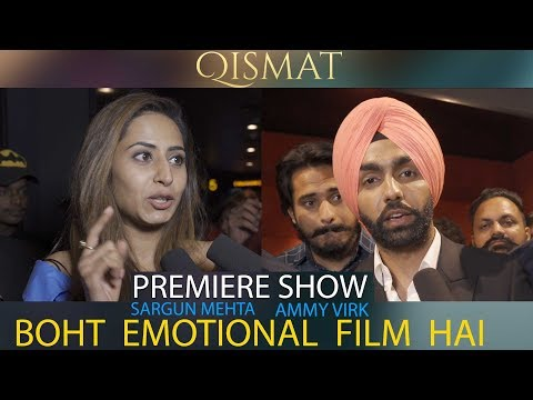 QISMAT | Ammy Virk & Sargun Mehta After Watching Movie Premiere