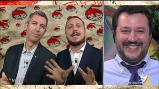 La copertina di Luca e Paolo: 'Mentre tutti parlavano di antifascismo, Salvini parlava di antifurti'