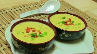 Cheesy Corn Soup Video Recipe By Bhavna | Quick & Easy