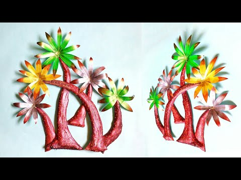 Best Out Of Waste | Antique Wall Hanging | Cardboard Craft | Newspaper Craft Idea | By Punekar Sneha