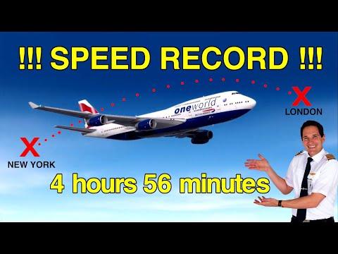 HOW did the 747 break the TRANSATLANTIC SPEED RECORD??!! Explained by CAPTAIN JOE