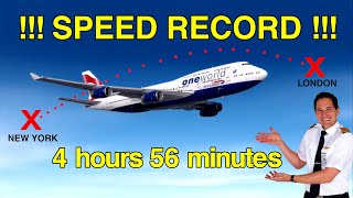 HOW did the 747 break the TRANSATLANTIC SPEED RECORD??!! Explained by CAPTAIN JOE