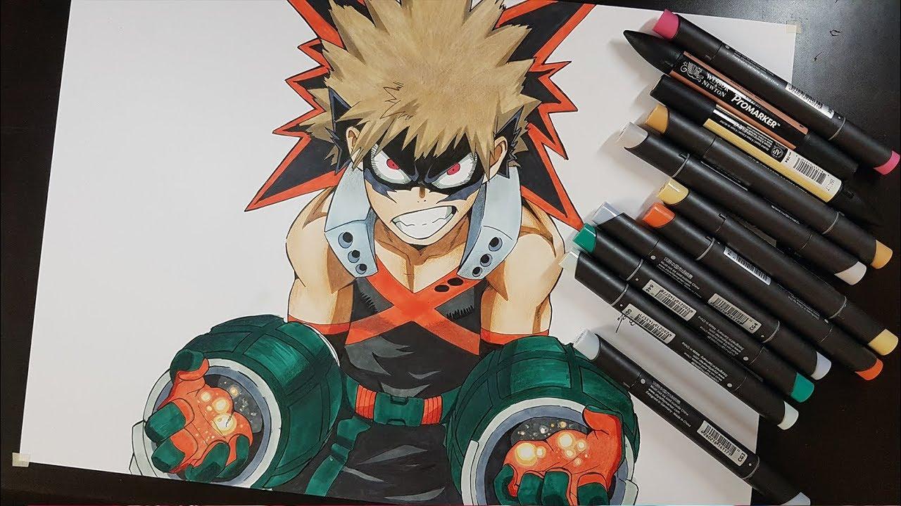 Drawing Bakugou Katsuki Fom My Hero Academia Boku No Hero Academia