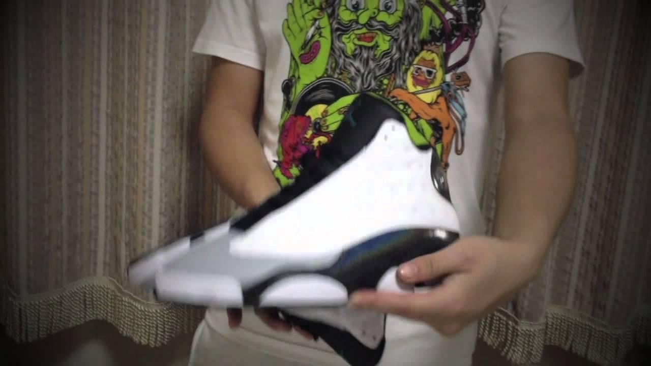 c33f1bfd8ec Air Jordan 13 Hologram On Feet Review - YouTube