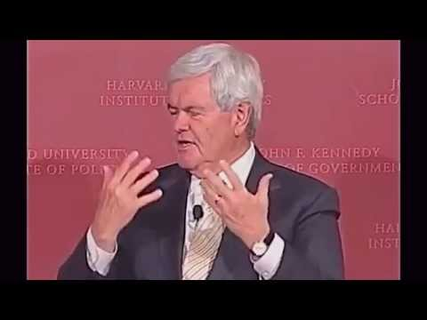 Newt Gingrich at the Harvard Institute of Politics