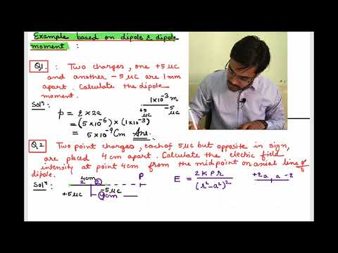 PROBLEM BASED ON ELECTRIC FIELD DUE TO DIPOLE AND DIPOLE MOMENT  EXPLAINED BY ASHISH SINGH