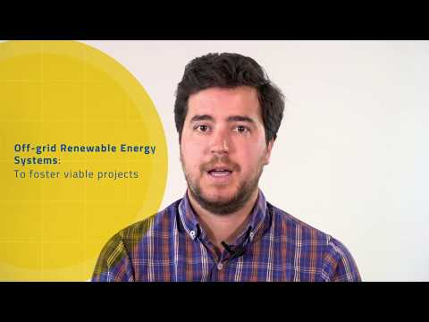 Diego Pérez: Off-grid renewable energy systems to foster viable projects